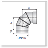 Single Wall (Single Skin) Stainless Steel Flue, Bends