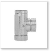 Selkirk IL Insta-Lock Flue Fittings, 90 Degree Tee